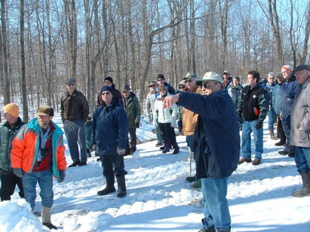 Tour of Murray and Wilma Scott's Wetland Restoration Project at the AGM in March 2008